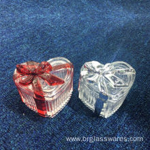 Excellent quality price for Ring Jewelry Box Luxury New Developed Glass Ribbon Trinket Box export to United States Manufacturer