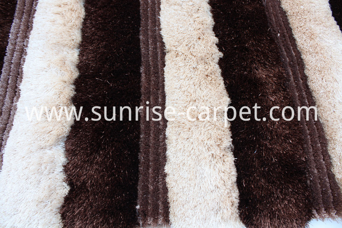 Silk 3D & 4D Shaggy Brown Beige