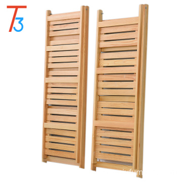 folding wood display wood kitchen shelf used home decoration