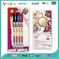 Ever After High 4 disposable ball pens with blister card