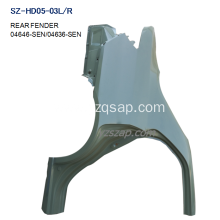 China for REAR Fenders For HONDA Steel Body Autoparts Honda 2005-2008 CITY REAR FENDER supply to Spain Exporter