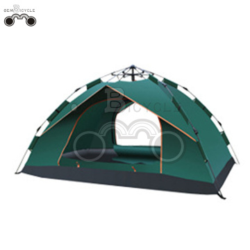 single layer blue camping tent for 3-4 person