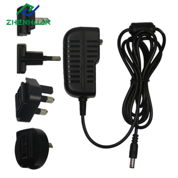 Carregador de 15V 1000mA Multi Plug DC Adapter 15W