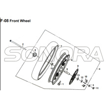 F-08 Front Wheel for XS175T SYMPHONY ST 200i Spare Part Top Quality