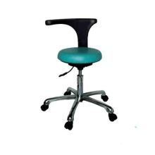 Height adjustable round retractable chair