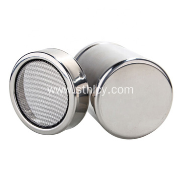 Stainless Steel Powder Shaker Mesh Condiment Pot