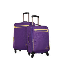 Purple colour waterfroof polyester soft luggage