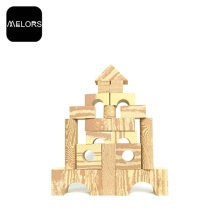 Melors Foam Building Blocks Toys Wood Grain Block