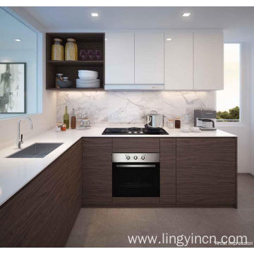 Hot sale modular high gloss acrylic kitchen cabinets