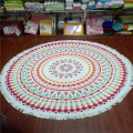watermelon circle custom roundie print beach towel
