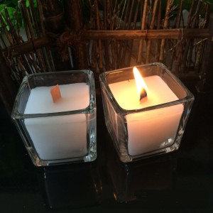 Soybean Candles in Square Jar with Wood Wick