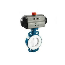 Pneumatic PFA Fluorine lined Wafer Butterfly Valve