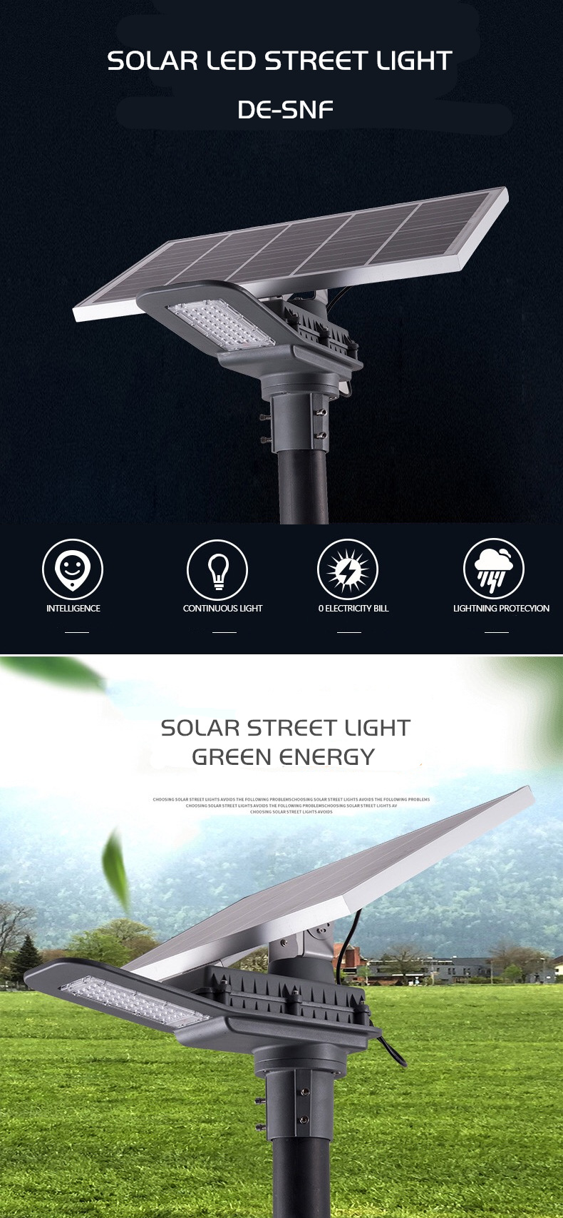 DE-SNF SOLAR LED STREET LIGHT DELIGHT ECO ENERGY