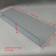Clear L shape Acrylic shelf divider for supermarket