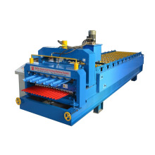 China New Product for Glazed Double Deck Making Machine Glazed Tile Double Deck Roll Forming Machine export to Kazakhstan Importers