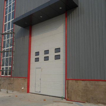 Factory price aluminum high speed sectional door