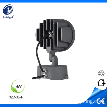 Solid aluminum 9W IP65 outdoor spot lamp