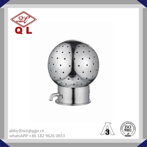 Food Grade Sanitary Rotary Clamped Cleaning Ball