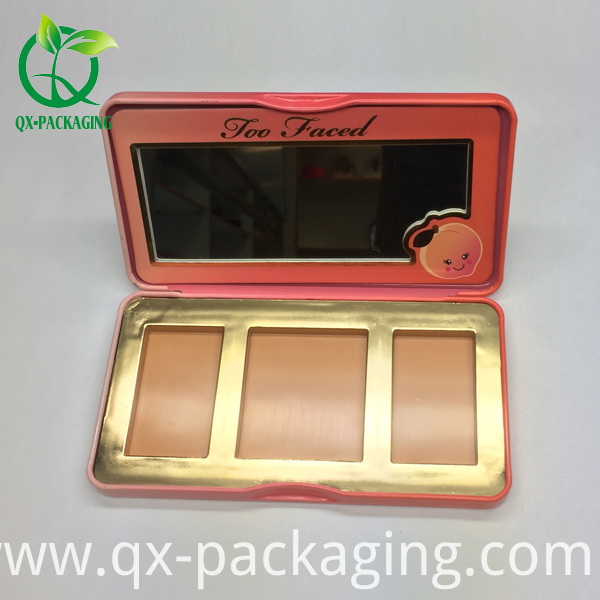 cosmetic tin box for eyeshadow