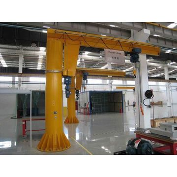 Wharf Mine Warehouse Slewing Column Mounted Jib Crane