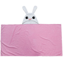 Cute Children's Beach Towels Pink Bunny