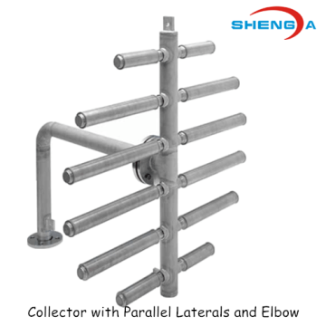 SS Collector with Parallel Laterals and Elbow