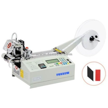 Automatic Bevel Ribbon Cutter Machine Hot Knife