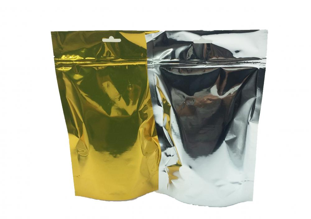plastic stand-up flat bottom zipper bag