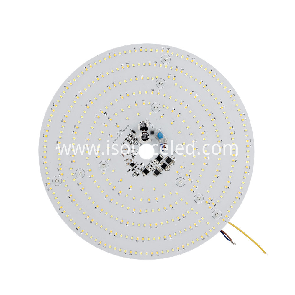 Front side of a Colorable smd 2835 Round 24W AC LED Module