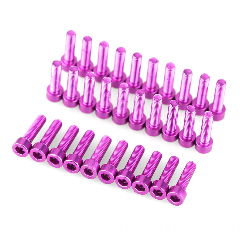 aluminum anodized cnc socket screw din