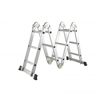 Aluminum foldable multipurpose ladders
