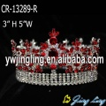 Red Full Round Beauty Queen Pageant Crown