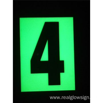 Realglow Photoluminescent  Flat Number 4