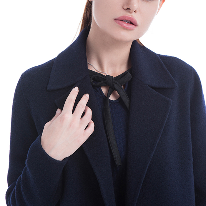 The collar of cashmere overcoat