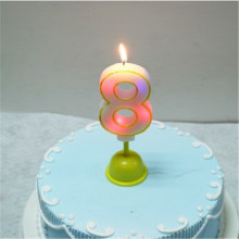 Electrical LED Multicolored Music Number Birthday Candle