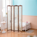 Wooden Screen Room Divider 4 Panel Neo-Chinese Style Solid Wood Folding Indoor Decoration Wooden Screen