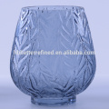 Vitage Leaf Pattern Set OF Colored Glass Vases