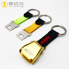custom mini airplane safety buckle seatbelt keychain