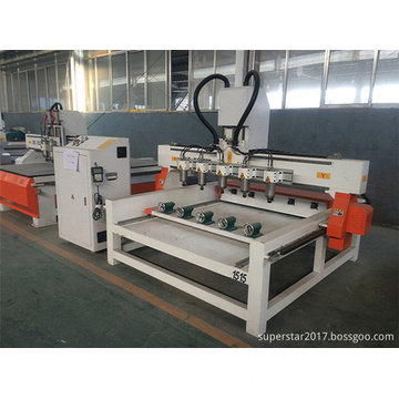 4 Spindle Multy Head Woodworking CNC Machine