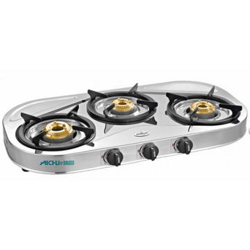 Shakti Star 3 Burner SS Gas Stove