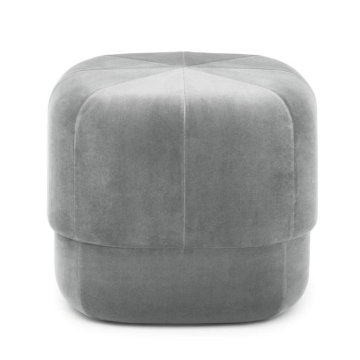 Europe style for Round Ottoman Stool Circus Pouf in Velour velvet sofa ottoman export to Poland Supplier