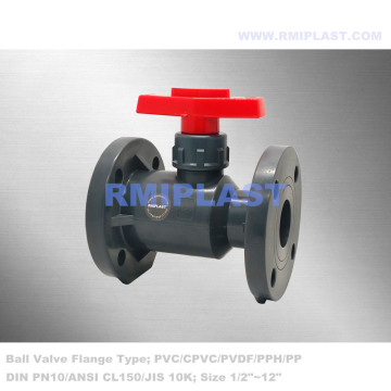 Lever Handle PVC Ball Valve Flanged PN10
