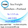 Shenzhen Port Sea Freight Shipping To Portland