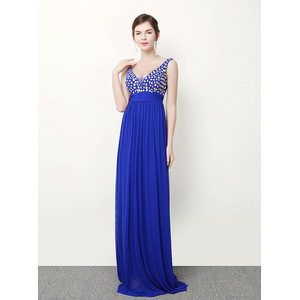 270 # dress female long evening dress birthday shoulders Slim Banquet annual performance bridesmaid dress