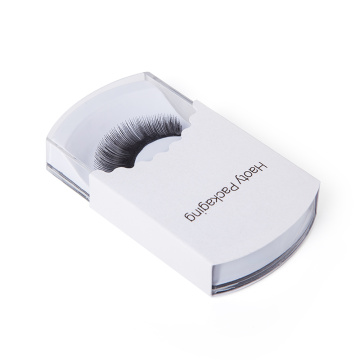 Attractive Design Round Plastic Case Eyelash Paper Box