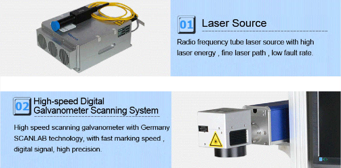 CO2 laser marking machine for plastic