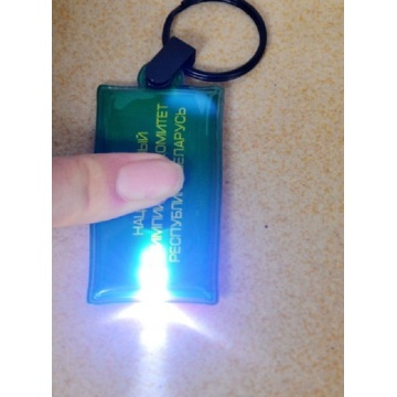 Promotional PVC Keychain with led