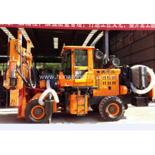 Leading for Pile Driver With Screw Air-Compressor Highway Guardrail Hydraulic Pile Driver supply to Niue Exporter