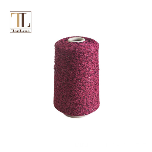 Topline new cotton blend paper yarn with sequins