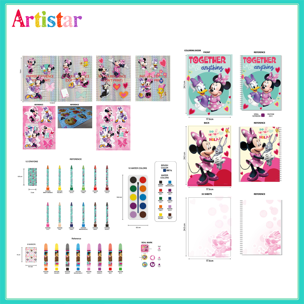 Disney Minnie Carry Paint Set 01